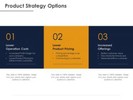 Product Strategy Options Ppt Powerpoint Presentation Gallery Slide Portrait