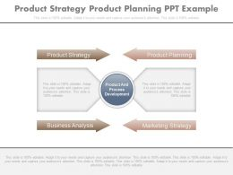 Product Strategy Product Planning Ppt Example