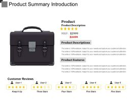 Product Summary Introduction