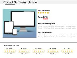 Product Summary Outline