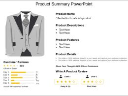 Product Summary Powerpoint