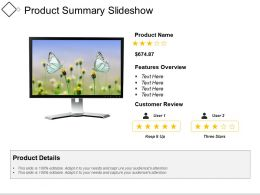 Product Summary Slideshow