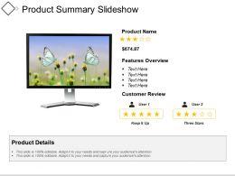 Product Summary Slideshow