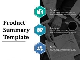 Product Summary Template