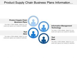 Product Supply Chain Business Plans Information Management Technology