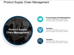 Product Supply Chain Management Ppt Powerpoint Presentation Outline Templates Cpb