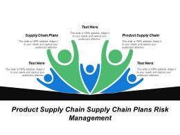 Product Supply Chain Supply Chain Plans Risk Management