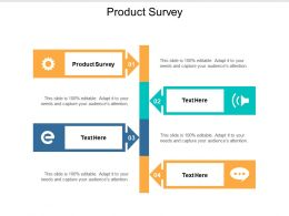 Product Survey Ppt Powerpoint Presentation Pictures Smartart Cpb