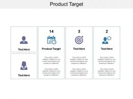 Product Targets Ppt Powerpoint Presentation Slides Clipart Images Cpb