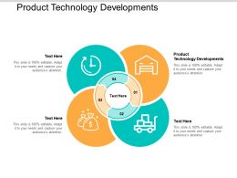 Product Technology Developments Ppt Powerpoint Presentation File Graphics Example Cpb