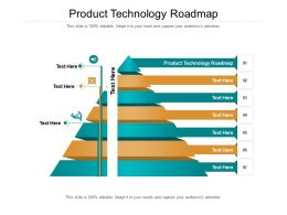 Product Technology Roadmap Ppt Powerpoint Presentation Model Influencers Cpb