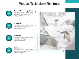 Product Technology Roadmap Ppt Powerpoint Presentation Portfolio Templates Cpb