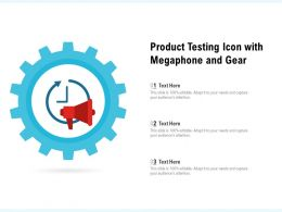 Product Testing Icon With Megaphone And Gear