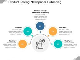 Product Testing Newspaper Publishing Ppt Powerpoint Presentation Pictures Gallery Cpb