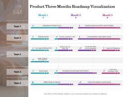 Product Three Months Roadmap Visualization