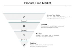 Product Time Market Ppt Powerpoint Presentation Layouts Example Cpb