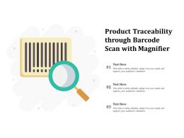 Product Traceability Through Barcode Scan With Magnifier