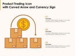 Product Trading Icon With Curved Arrow And Currency Sign