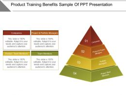 Product Training Benefits Sample Of Ppt Presentation