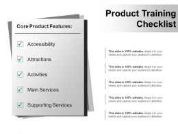 Product Training Checklist Example Ppt Presentation