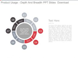 Product Usage Depth And Breadth Ppt Slides Download