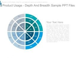 Product Usage Depth And Breadth Sample Ppt Files