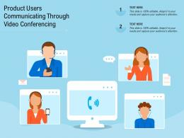 Product Users Communicating Through Video Conferencing