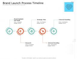 Product USP Brand Launch Process Timeline Ppt Powerpoint Presentation Gallery Outline