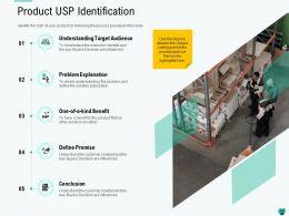 Product USP Identification Elaborately Ppt Powerpoint Presentation Infographics Visuals