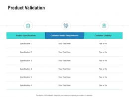 Product Validation Competitor Analysis Product Management Ppt Information