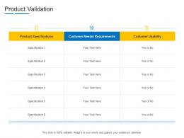 Product Validation Product Channel Segmentation Ppt Designs