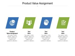 Product Value Assignment Ppt Powerpoint Presentation Inspiration Clipart Cpb