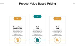 Product Value Based Pricing Ppt Powerpoint Presentation Summary Structure Cpb