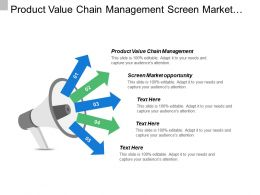 Product Value Chain Management Screen Market Opportunity Business Administration