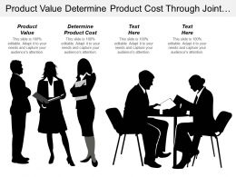 Product Value Determine Product Cost Through Joint Ventures