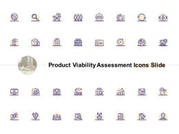 Product Viability Assessment Icons Slide Gears Ppt Powerpoint Presentation Show Icons