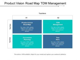 Product Vision Road Map TDM Management Succession Planning Cpb