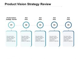 Product Vision Strategy Review Ppt Powerpoint Presentation Pictures Guidelines Cpb
