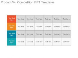 Product Vs Competition Ppt Templates