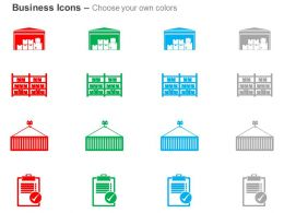 Product Warehouse Checklist Formation Ppt Icons Graphics