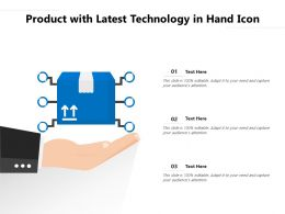 Product With Latest Technology In Hand Icon