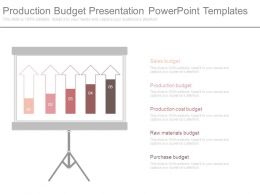 Production Budget Presentation Powerpoint Templates