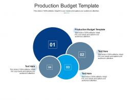 Production Budget Template Ppt Powerpoint Presentation Ideas Templates Cpb