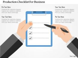 Production Checklist For Business Flat Powerpoint Design