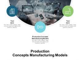 Production Concepts Manufacturing Models Ppt Powerpoint Presentation File Styles Cpb