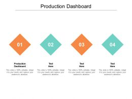 Production Dashboard Ppt Powerpoint Presentation Summary Files Cpb