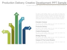 Production Delivery Creative Development Ppt Sample