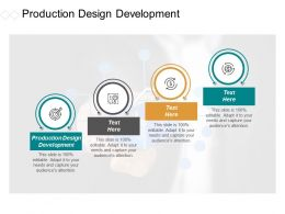 Production Design Development Ppt Powerpoint Presentation Portfolio Clipart Cpb