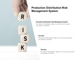 Production Distribution Risk Management System Ppt Powerpoint Presentation Layouts Guide Cpb