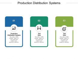 Production Distribution Systems Ppt Powerpoint Presentation Portfolio Elements Cpb
